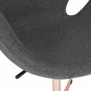Swan Lounge Chair - Dark Grey Copper Legs
