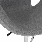 Swan Lounge Chair - Grey