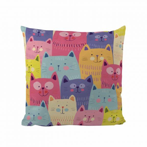 Colourful Cats - Designer Cushion
