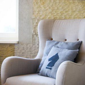 GIE Grey Cushion 40x40