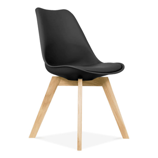 Black-Dining-Chairs-Solid-Oak-Crossed-Wood-Legs-Inspired-Eames-1