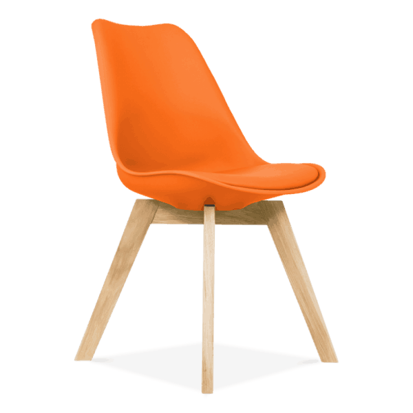 Orange-Dining-Chairs-Solid-Oak-Crossed-Wood-Legs-Inspired-Eames-1