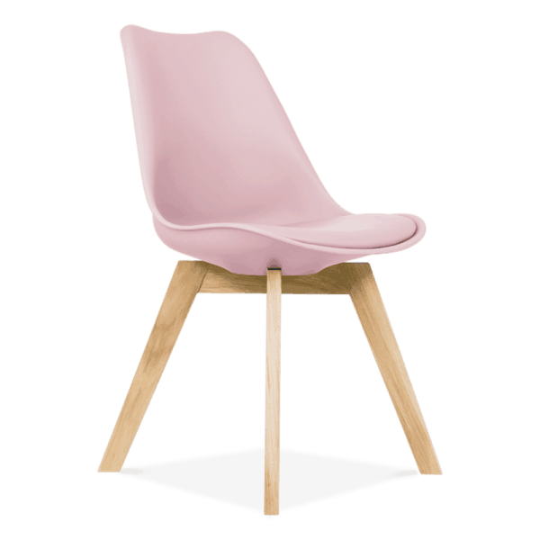 Pink-Dining-Chairs-Solid-Oak-Crossed-Wood-Legs-Inspired-Eames-1