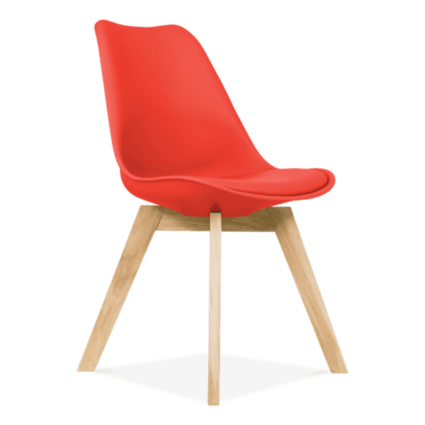 Red-Dining-Chairs-Solid-Oak-Crossed-Wood-Legs-Inspired-Eames-1