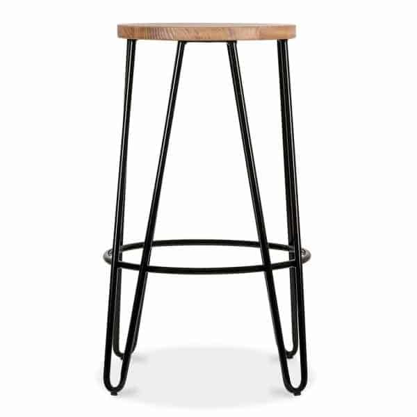 Black Hairpin Stool