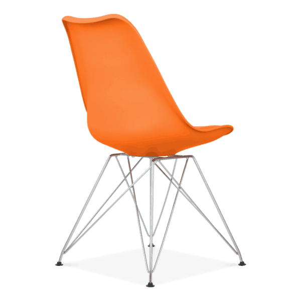 Orange Eiffel Dining Chair, Eames Inspired