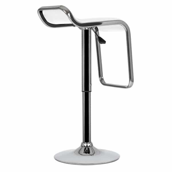 White Swivel Bar Stool 600/840mm