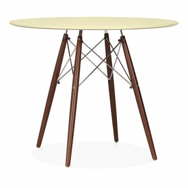 DSW Round Dining Table - Lemon Walnut