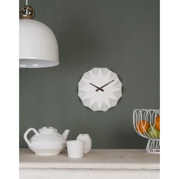 Turquoise Origami Style Ceramic Wall Clock