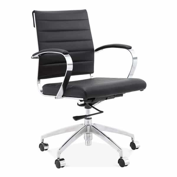 Deluxe Office Chair - Short Back Design - Black