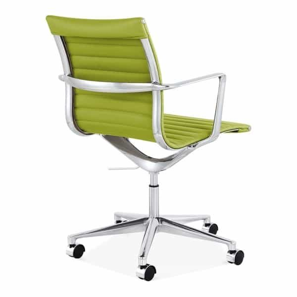 Ribbed Office Chair - Short Back Design - Apple Green