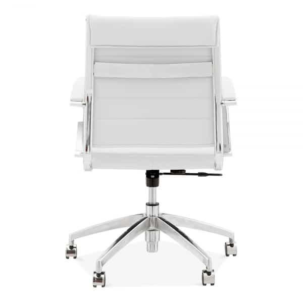 Deluxe Office Chair - Short Back Design - White