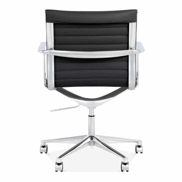 Ribbed Office Chair - Short Back Design - Black