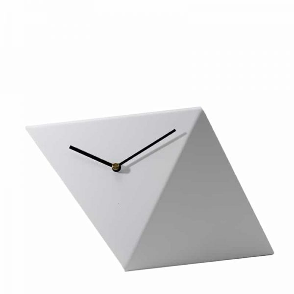 GIE White Table Top Design Clock