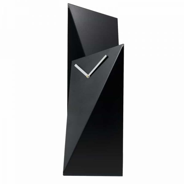 GIE Black Tall Table Top Clock