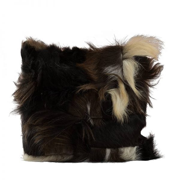 Dark Brown Goats Fur Cushion Pillow
