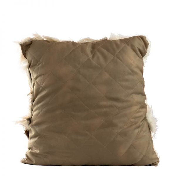 GIE Brown Meange Goat Fur Cushion 40x35