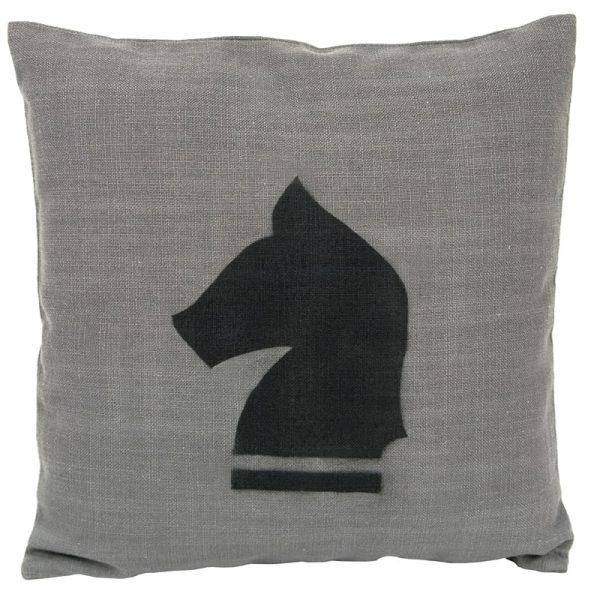GIE Black Grey Horse Print Cushion 50x50