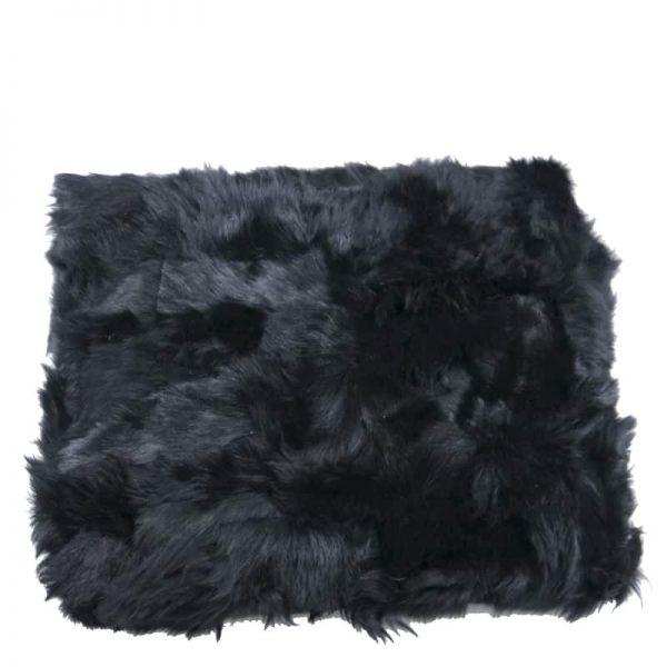 GIE EL 'Recycled' Natural Fur Throw Black