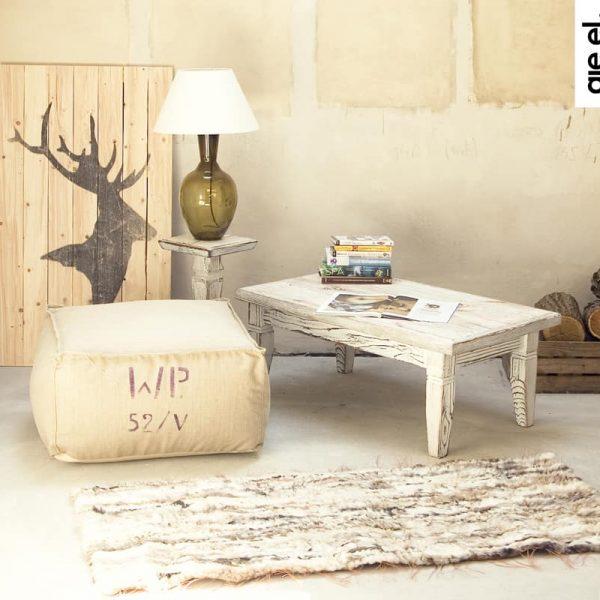 GIE EL 'Recycled' Natural Fur Rug - Bright Melange 60x160cm
