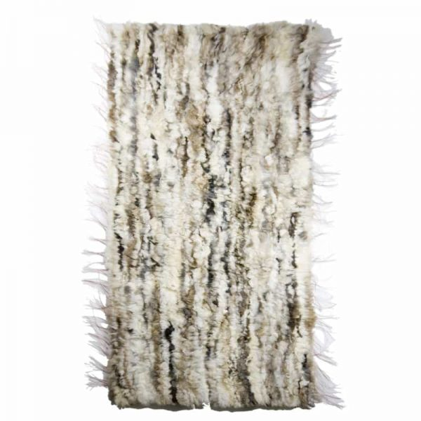 GIE EL 'Recycled' Natural Fur Rug - Bright Melange 60x160cm