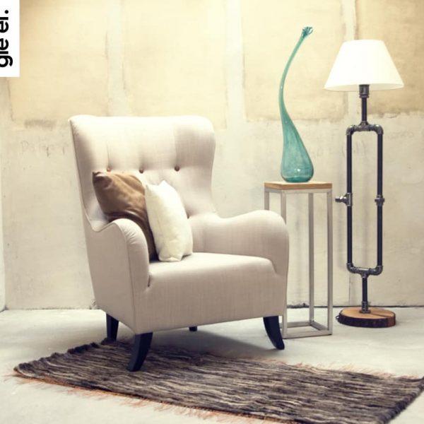 GIE EL 'Recycled' Natural Fur Rug - Melange 60x160cm