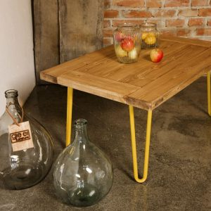 GIE El Yellow Hairpin Leg Coffee Table